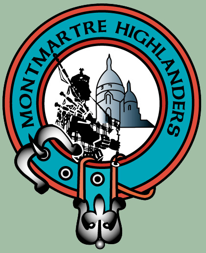 pipe band montmartre highlanders logo